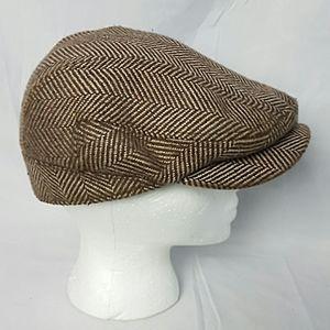Crown Cap Tweed Flat/Cabbie Hat